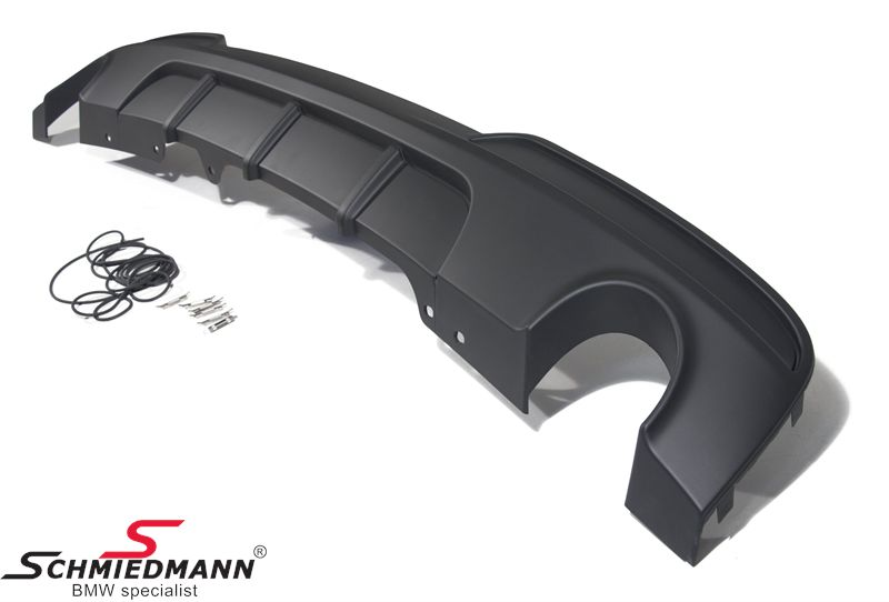 Rear diffuser black matt -BMW Performance- for M-Technic rearskirt/M-Aerodynamic rear bumper