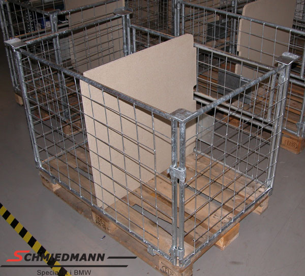 Lattice frame with door for euro palle 800X1200X800 electroplated