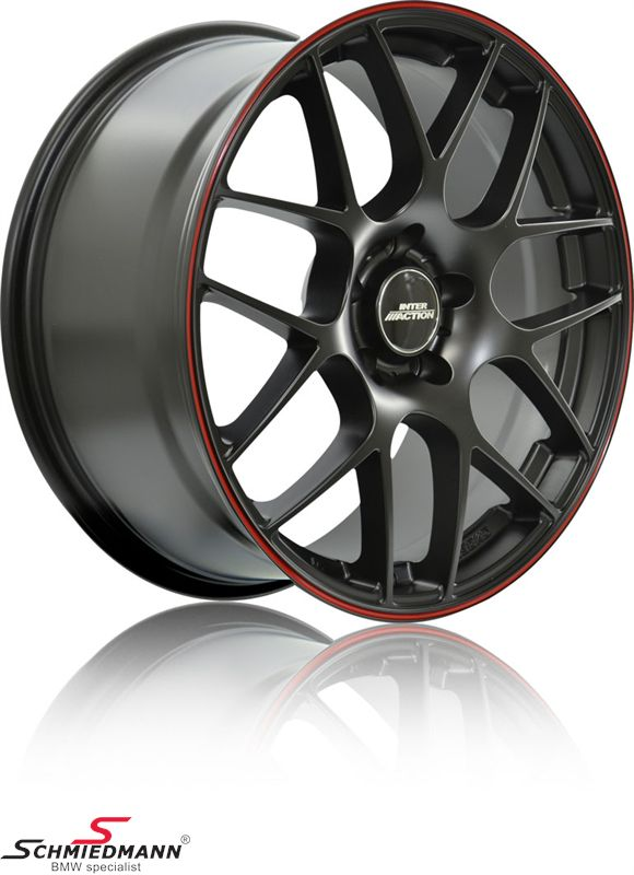"18"" -Competition Red Line- rim 8x18, Mate Black"