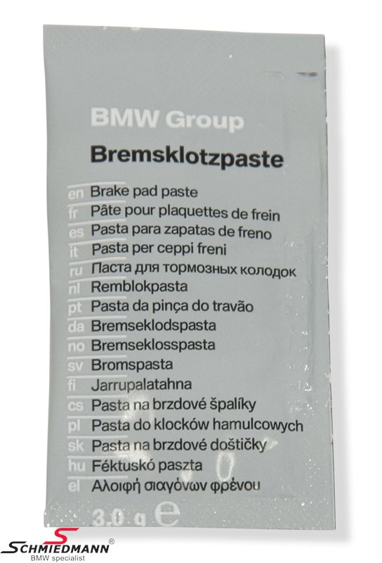 Bremsklotzpaste - original BMW 3G Packung