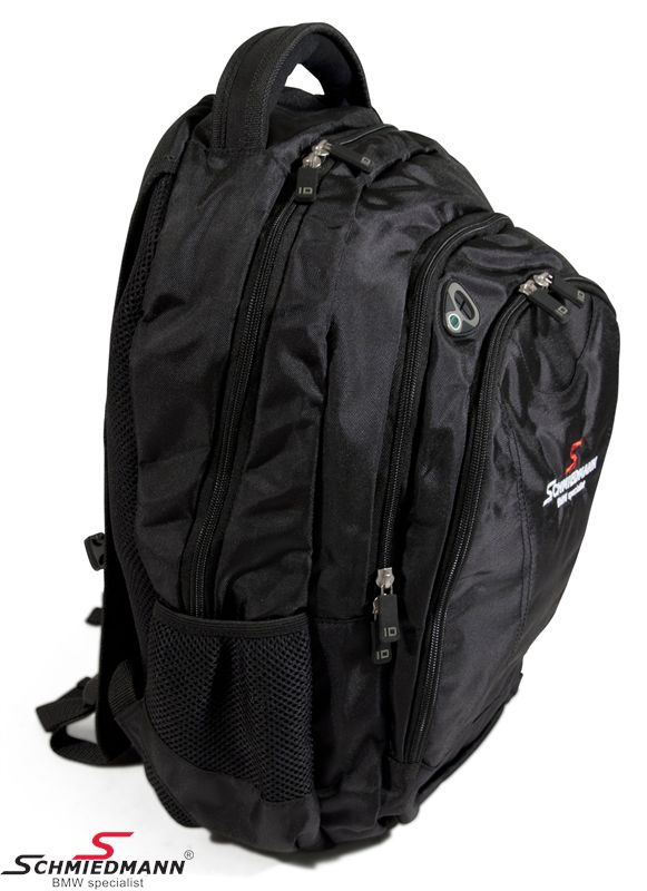 Schmiedmann backpack black/red with -Schmiedmann- embroidery