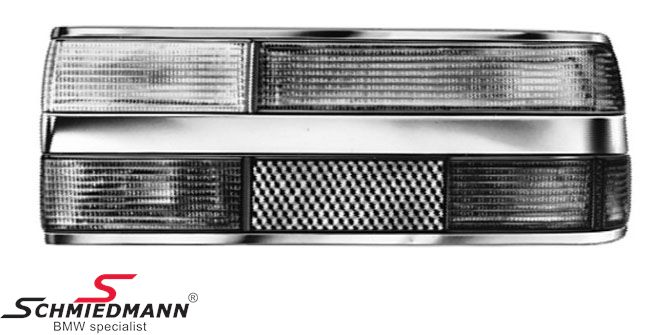 Taillight chrome standard with foglight R.-side, original Hella