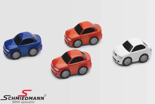 BMW funcar 1´serie M-coupé legetøjsbil str. 1:100 -Pull back-(træk bagud og den kører fremad), inkl. magnet, så du kan bruge dem som holder på fx. køleskabet