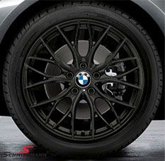 """18""""  M-Doppelspeiche 405 schwarz matt, rim 8X18 (original BMW)"""