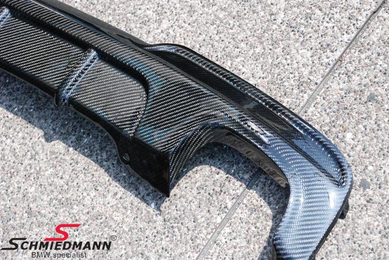 Heckschürzen-Verkleidung echt Carbon -Motorsport II- unten für M-Technic Heckschürze