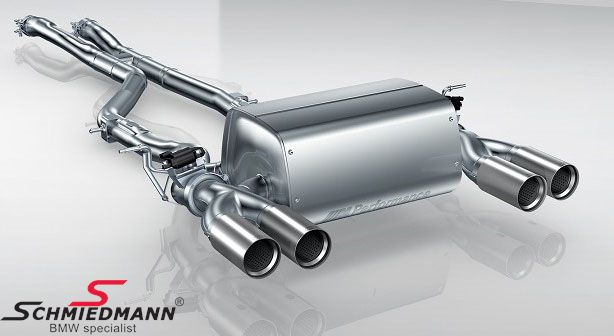 Sport rear silencer set stainless steel original BMW -///M-Performance- super lightweight-