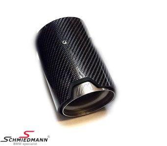 Tailpipe cover carbon original BMW -///M-Performance- for original -M///-Performance- sport silencer