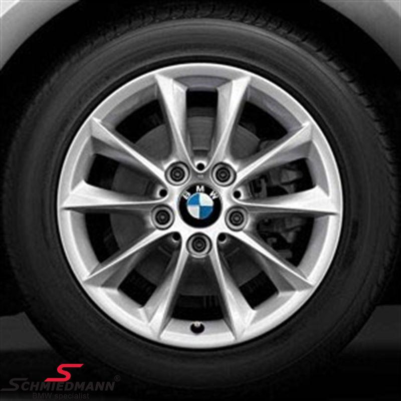 """16"""" V-Speiche 411 fælge 7X16 ET40 fælge (original BMW) m. 205/55/16 RFT Continental Winter Contact TS830P SSR DOT3013-4713"""