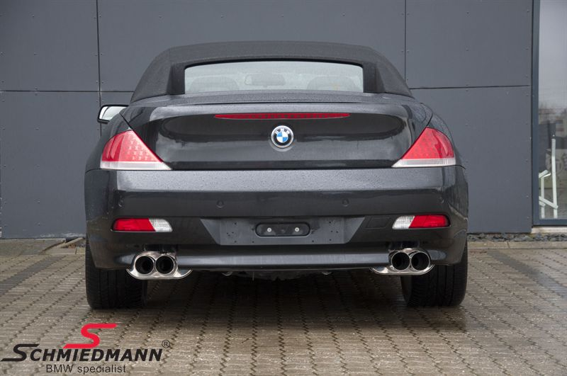 4 pipe Eisenmann sportexhaust in M6 look 4X83MM tailpipes