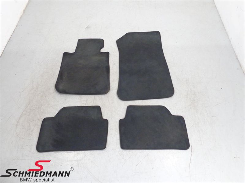 Floormats front/rear black
