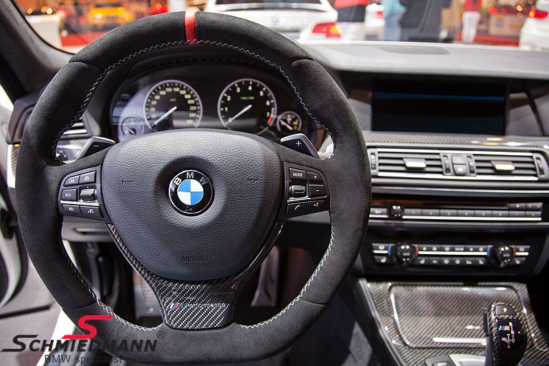 Sportsrat -///M-Performance- læder (airbag medfølger ikke, men kan genbruges fra et sports eller M-Technic rat).