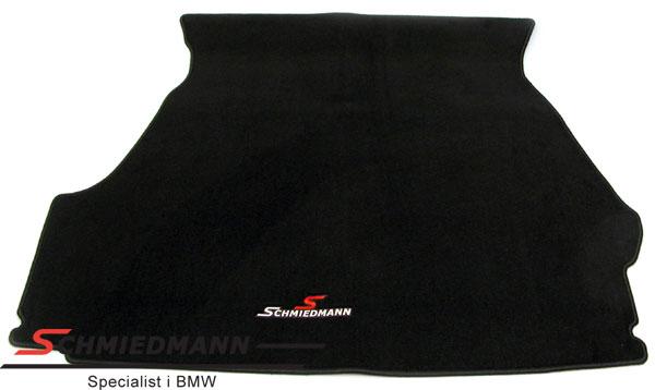 Kofferraum-Matte Stoff schwarz mit Schmiedmann Logo