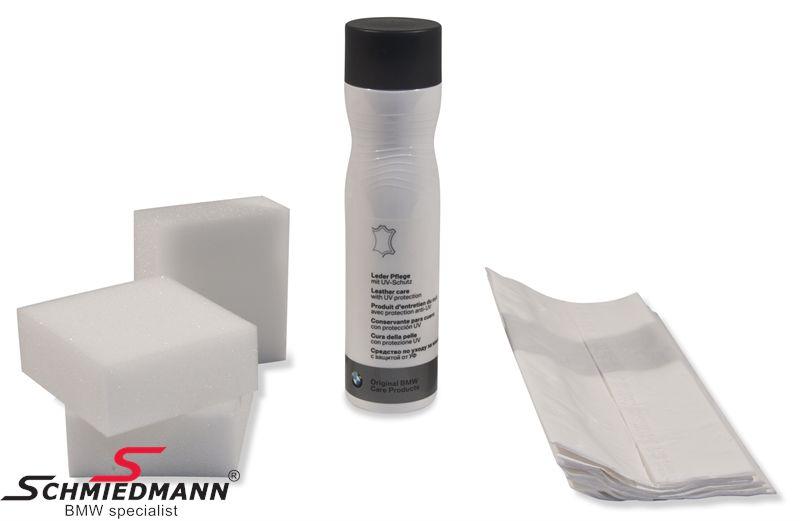 Læderlotion-set med plejemiddel og UV beskyttelse org. BMW 250ML