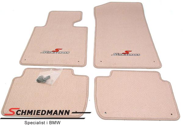 BMW E46 Fussmatten vorne/hinten original Schmiedmann -Sport Edition- beige