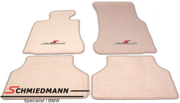 Fussmatten vorne/hinten original Schmiedmann -Sport Edition- beige