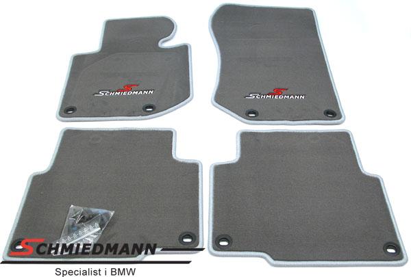 Gulvmatter for/bak original Schmiedmann sport edition grå