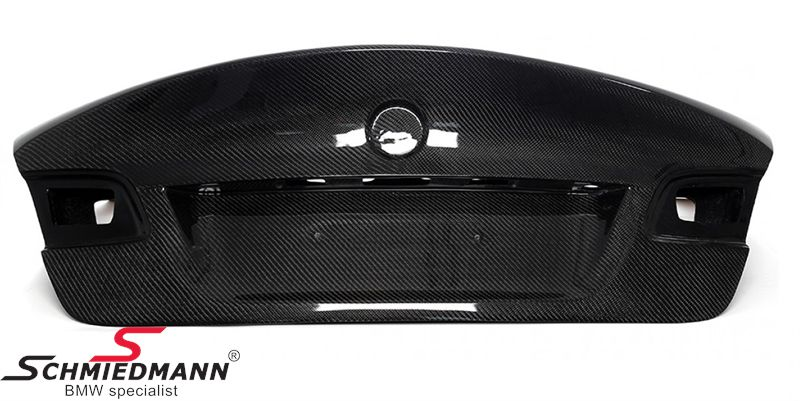Trunk lid EVO with integrated spoiler genuine carbon