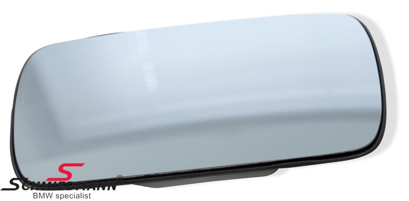 Mirror glass without heating R.-side