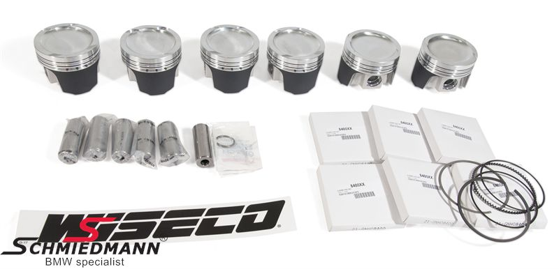 Wiseco turbo complete piston-set M50B25 bore 84,0MM, compression 8,8:1