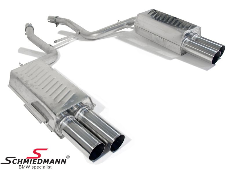 4 pipe Eisenmann sportexhaust in 750I look 4X83MM tailpipes -Race Sound- without Tüv