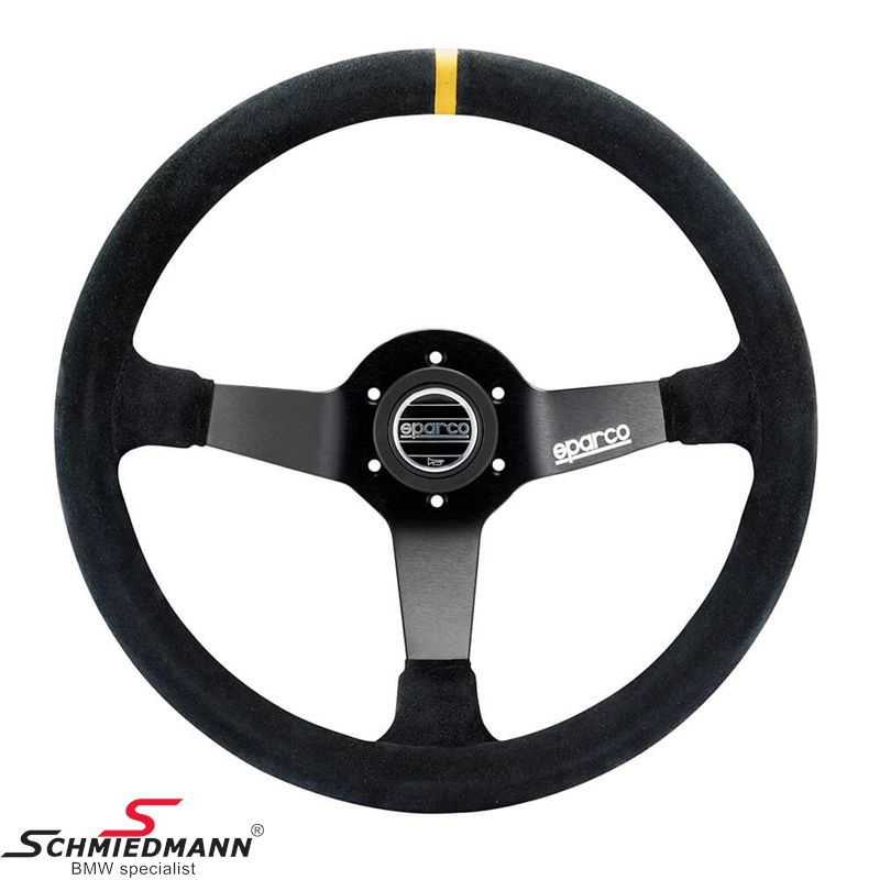 Sparco Competition Steering Wheel, Black Suede 350mm.