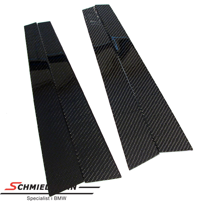 B-upright cover genuine carbon 4 pcs