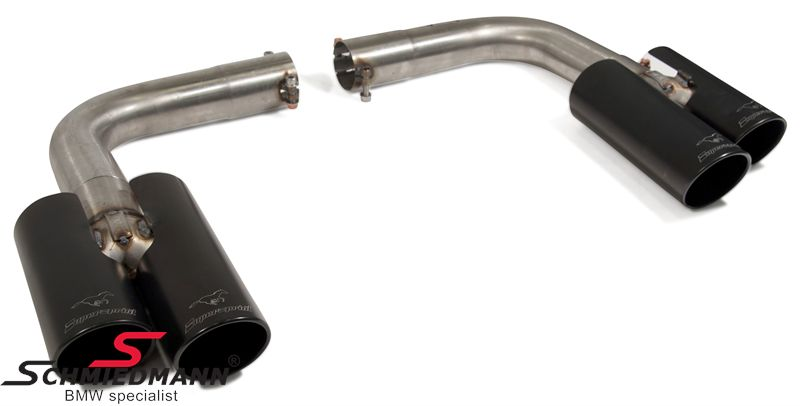 Supersprint tailpipes black 4x80mm.