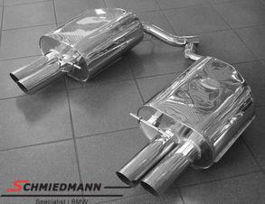 4 rør Eisenmann sportsudstødning i M6 look 4XØ83MM