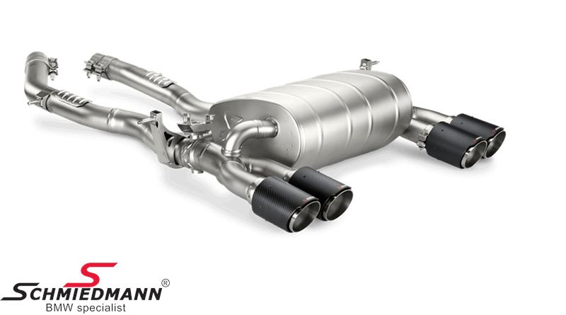 Sport rear silencer Akrapovic Titanium EVO System (Without tailpipes)