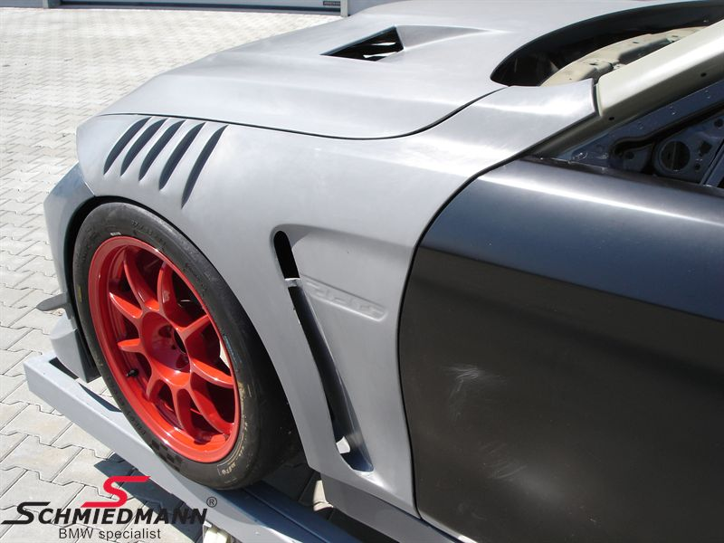 Hood -GTR- with double vents and powerdome genuine carbon, original Flossmann Germany