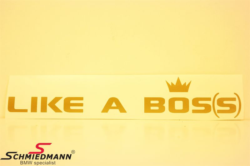 LIKE A BOS(S) rak 100x14 cm - GOLD