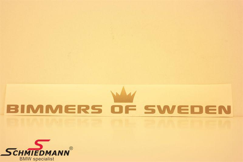 BIMMERS OF SWEDEN rak 100x14 cm - GOLD