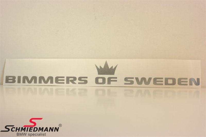 BIMMERS OF SWEDEN rak 100x14 cm - SILVER