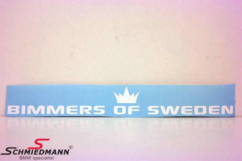 BIMMERS OF SWEDEN rak 100x14 cm - WHITE
