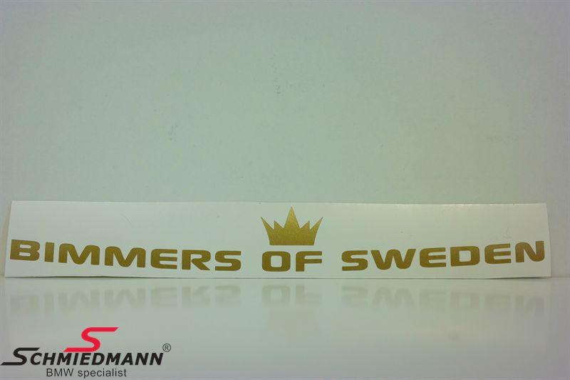 BIMMERS OF SWEDEN böjd 100x14 cm - GOLD