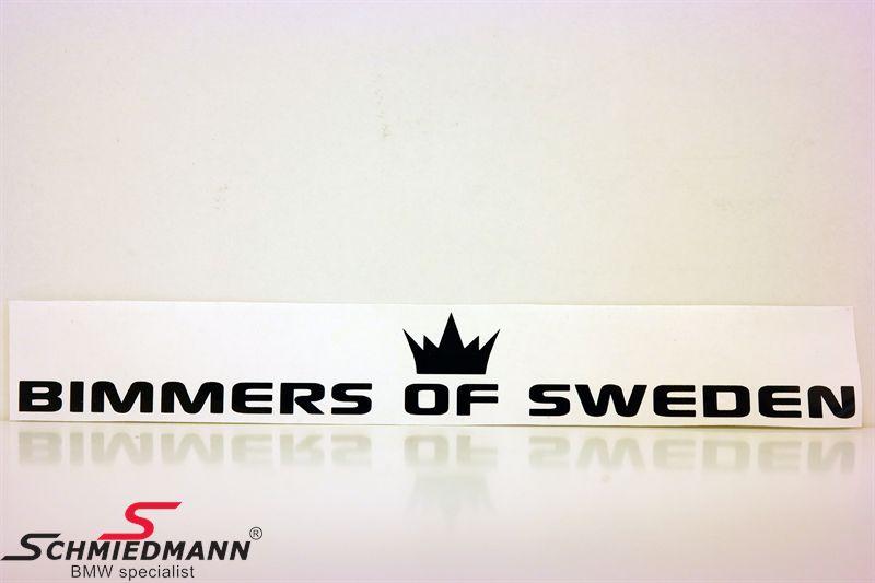 BIMMERS OF SWEDEN rak 20x3.5 cm - BLACK