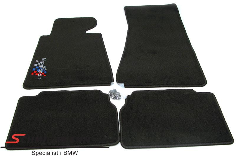 Fussmatten vorne/hinten schwarz mit -Motorsport- Logo