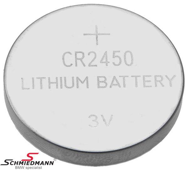 Mikrobaterie (CR2450) pro klíc dálkového ovládání