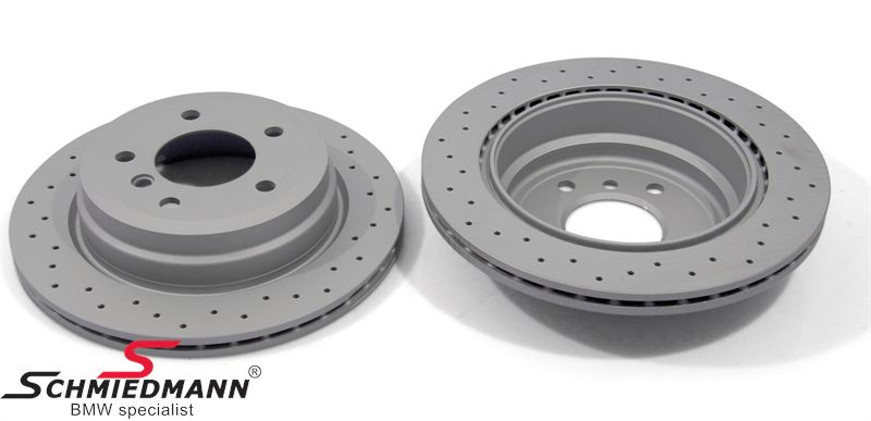 Racing brake discs rear set 300X20MM ventilated with holes Zimmermann