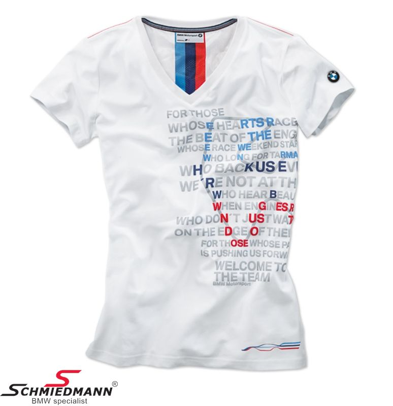 Ladies' T-shirt BMW Motorsport Graphic Str. XL
