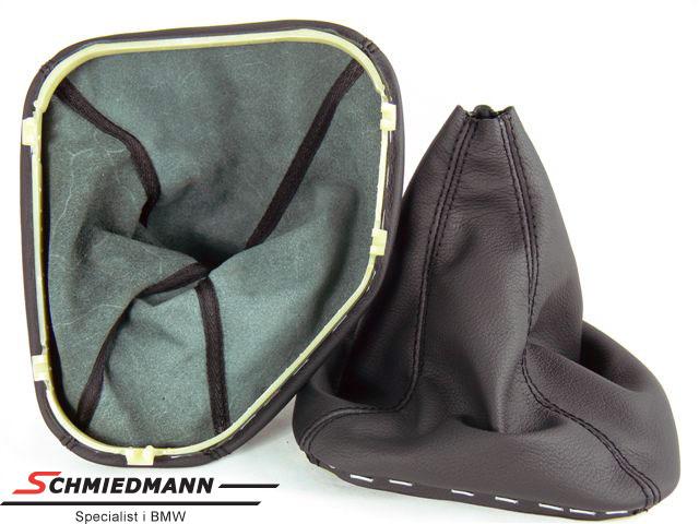 Gearmanchette ægte læder sort