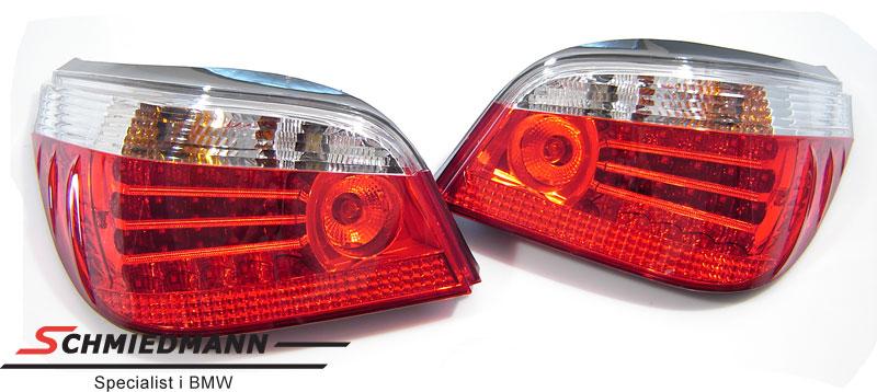 Baklykter facelift rød/hvite LED-teknikk