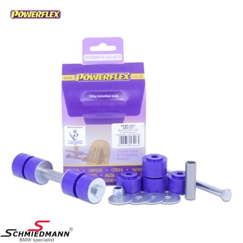 Powerflex racing stabilizer link bush-set rear lower, connects the stabilizer to the arms