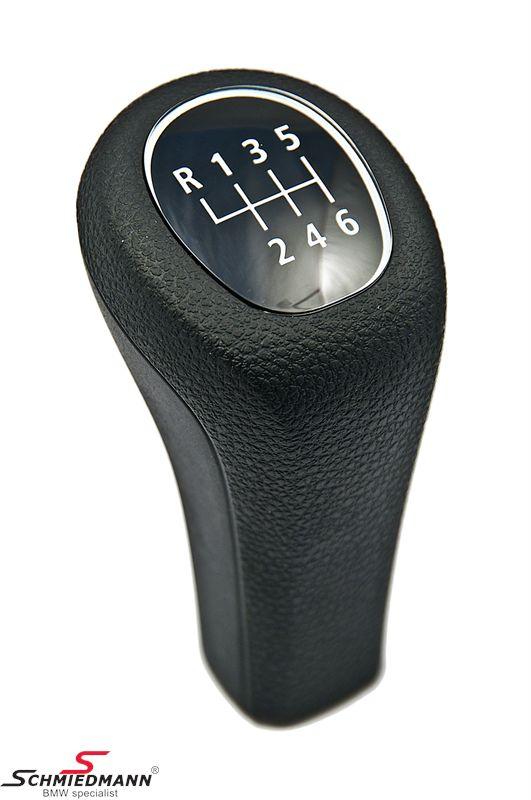 Gearknop standard sort kunststof 6-gear