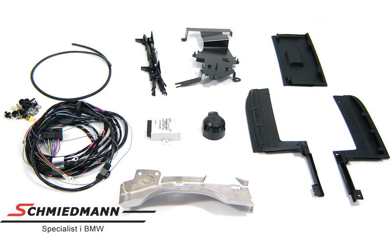 El-kabelsæt anhængertræk inkl. klap og ramme til kofangeren 13 pol