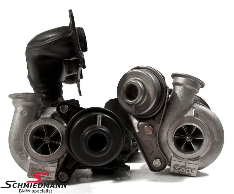 Schmiedmann signature stage 2 ombytnings turbo-kit op til 550HK, inkl. mont. slanger, pakninger mv.