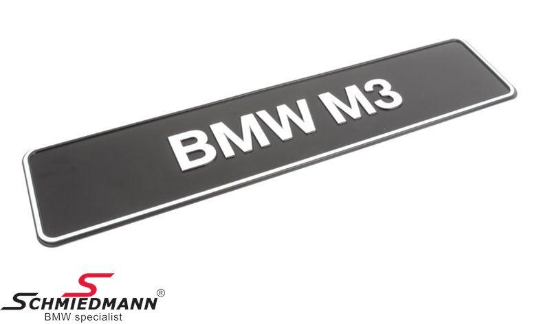 Udstillings-typeskilt original -BMW M3-