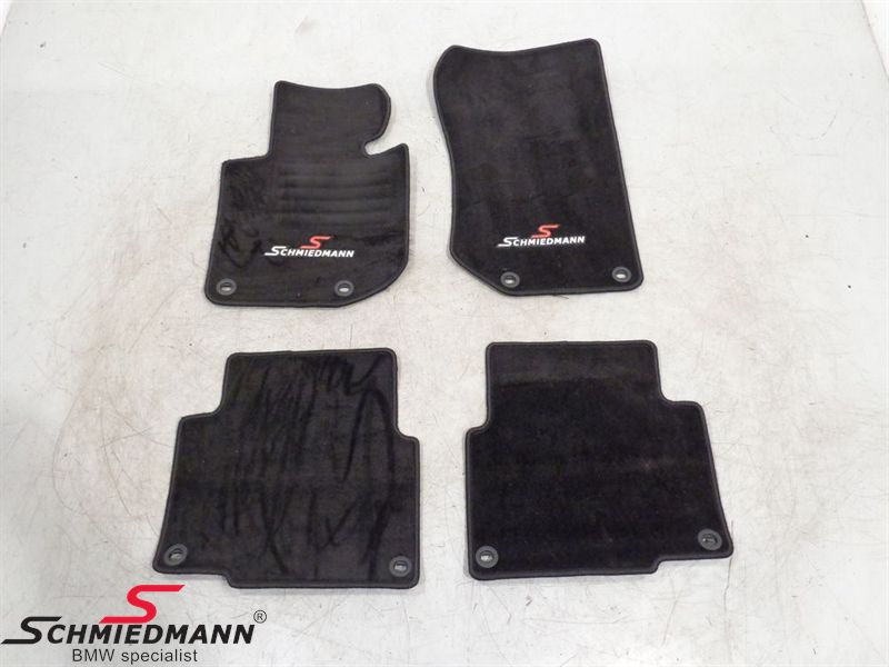 Floormats front/rear original Schmiedmann black
