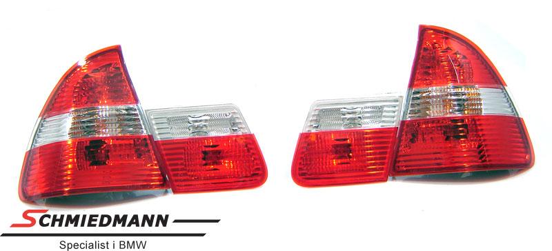 Rückleuchten Rot/Weiss upgrade mit Blinker in die Mitte