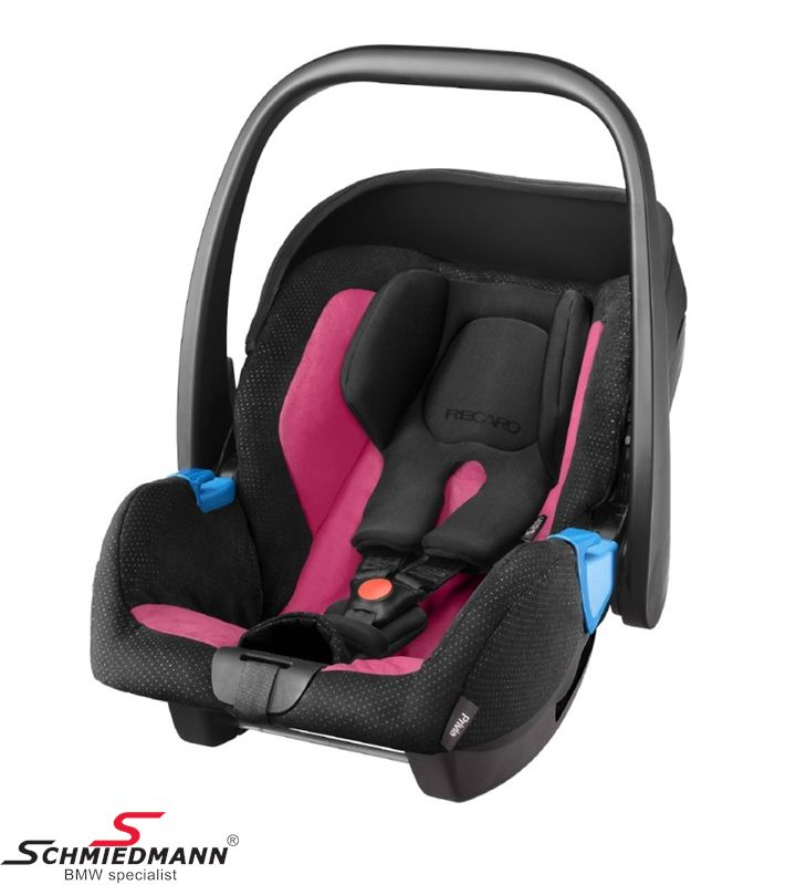 Child seat original Recaro -Privia- Pink, 0-13Kg. (Can be used with or without Recaro Isofix base)